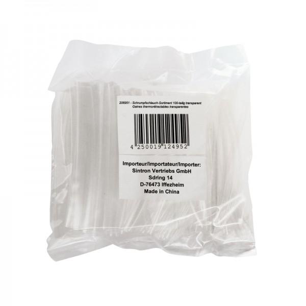 Schrumpfschlauch-Sortiment 100-teilig transparent in Sortimentstüte BLANKO