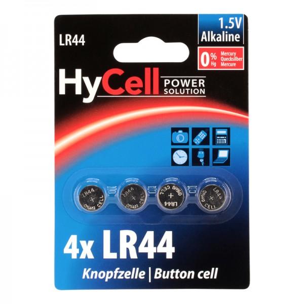 HyCell Knopfzelle / LR44 Batterie 4er Blister