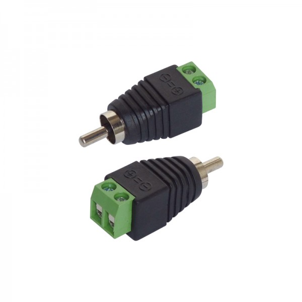 Adapter Cinch/RCA-Stecker 2er-Set BLANKO