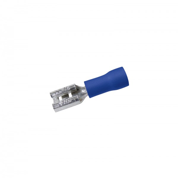 Flachsteckhülsen 0.8x4.75mm 50Stück Blau in Plastikbox BLANKO