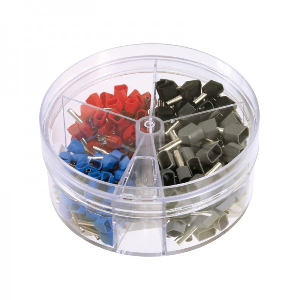Aderendhülsen-Streudose Twin isoliert 0,75 - 2,5 mm2 BLANKO