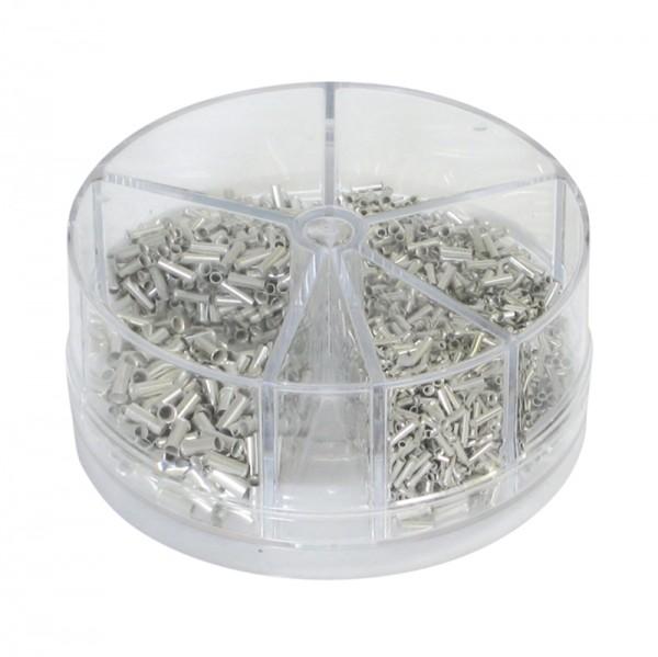 Aderendhülsen-Streudose BLANKO unisoliert 0,5 - 2,5 mm2