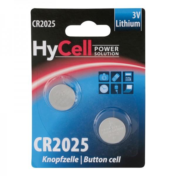HyCell Lithium / CR2025 Batterie 2er Blister