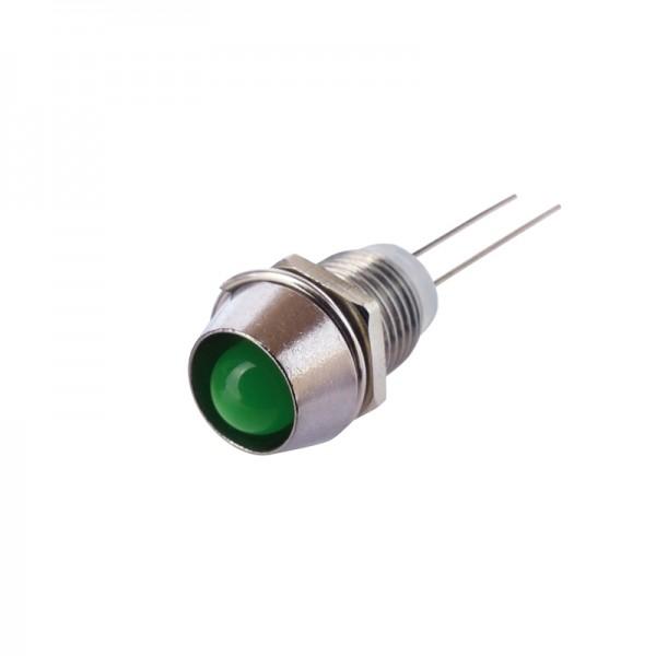 LED mit Fassung 6 mm grün 10 Stück BLANKO