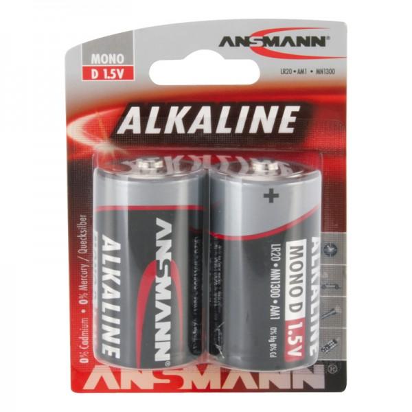 Ansmann Alkaline / Mono D Batterie 2er Blister