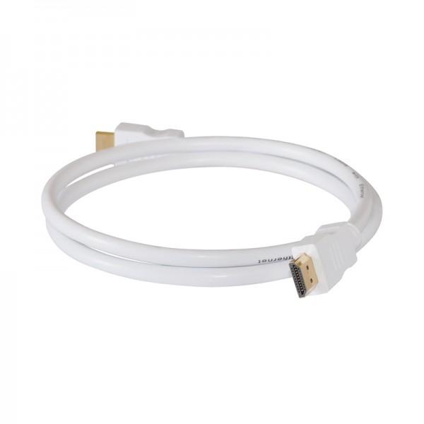 HDMI-Kabel Stecker-Stecker 2,0m weiss vergoldet 1.4
