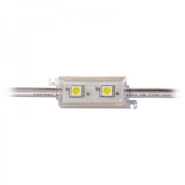 LED Modul 2 x Power SMD LEDs weiss IP65 wasserdicht BLANKO