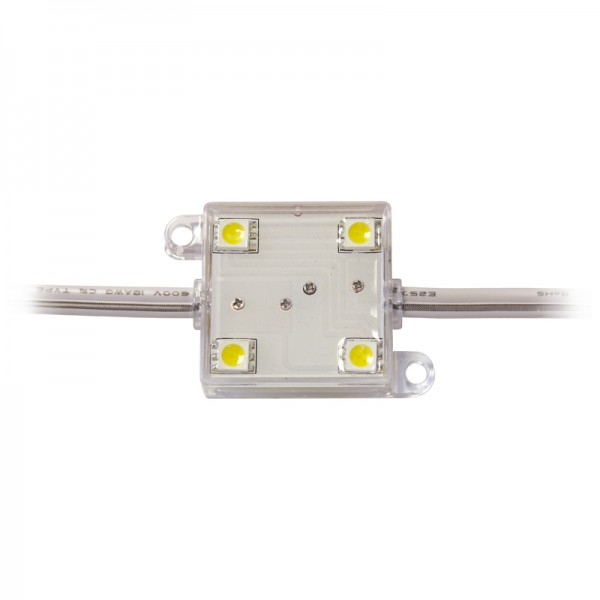LED Modul 4 x Power SMD LEDs warmweiss IP65 wasserdicht BLANKO