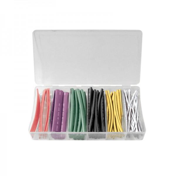 Schrumpfschlauch-Sortiment 100-teilig farbig, Box BLANKO