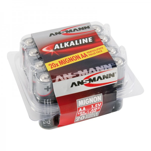 Ansmann Alkaline / Mignon AA Batterie 20er Box