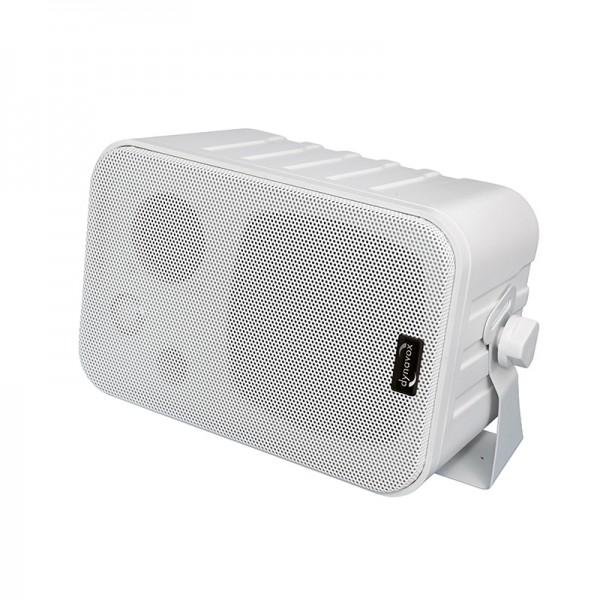 Dynavox Mini-Box 3-Wege mit Halterung weiss