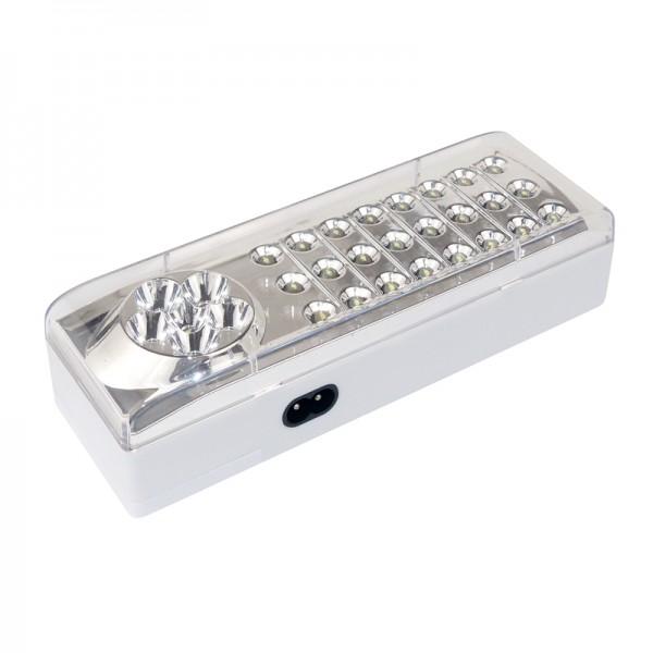Notleuchte 24+6 LEDs inkl. Akku 4V 1.2Ah BLANKO
