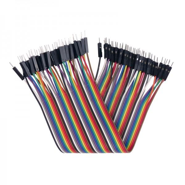 Flexible Verbinder für Laborsteckboards 40-teilig, Stecker/Stecker BLANKO