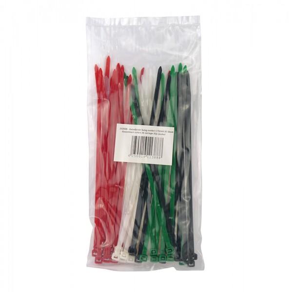 Kabelbinder farbig sortiert 50 Stück BLANKO