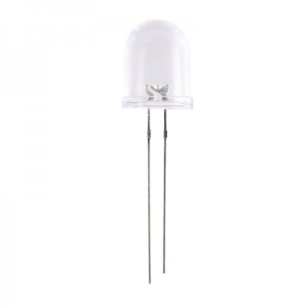 LED Weiss 10 mm ~13500 mcd 10 Stück BLANKO