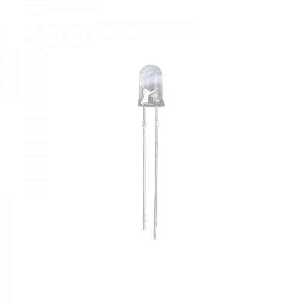 LED 5 mm Klar weiss 18000 mcd 10 Stück BLANKO