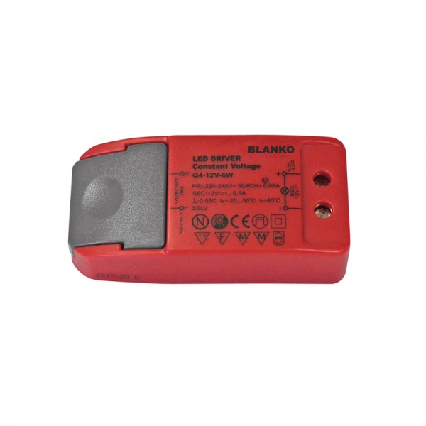 Konstantspannungsnetzteil für LED-Strips 12V / 0.5 A BLANKO