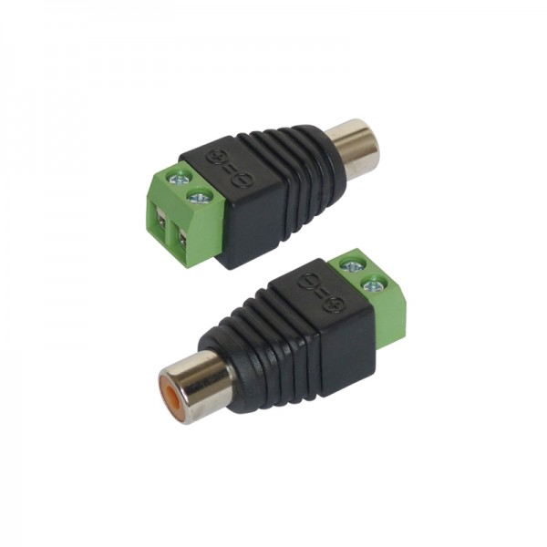 Adapter Cinch/RCA-Buchse 2er-Set BLANKO