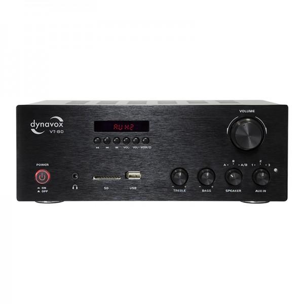 Dynavox Stereo Kompakt-Verstärker VT-80 schwarz