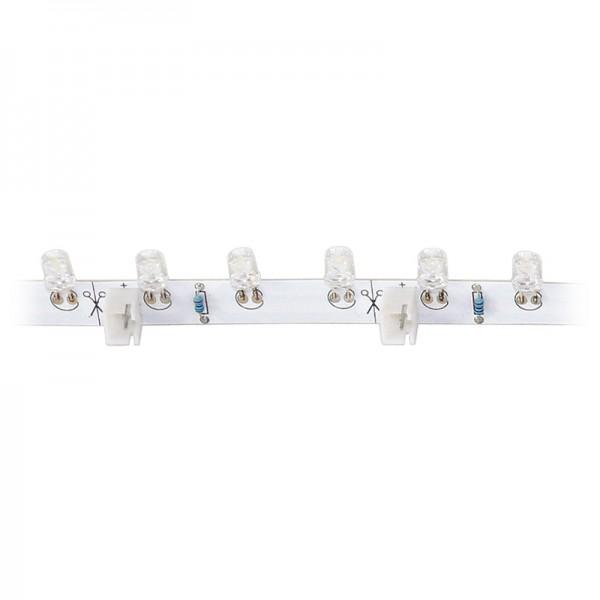 LED-Strip flexibel, 18 warmweisse LEDs Länge 30 cm, 3000 K BLANKO